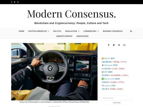 Screenshot of modernconsensus.com