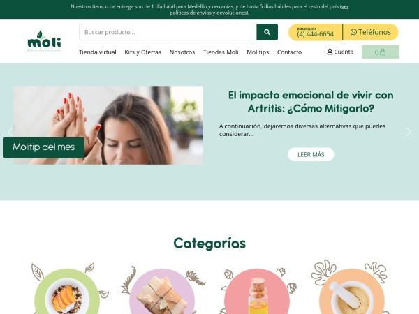 Captura de pantalla de molinatural.com