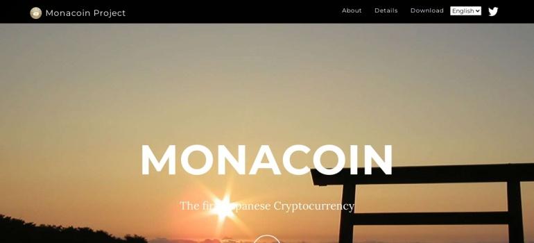 Screenshot of monacoin.org