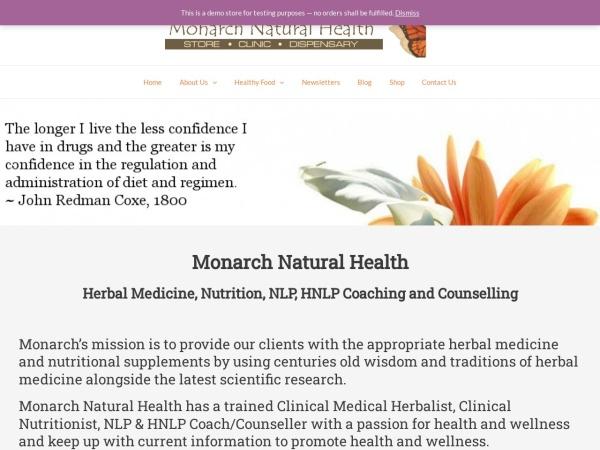 Screenshot of monarchnaturalhealth.co.nz