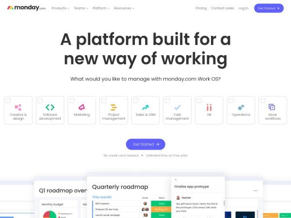Screenshot of monday.com