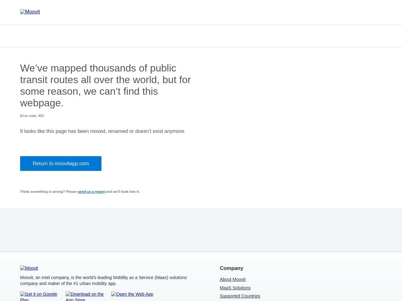 Screenshot of moovitapp.com