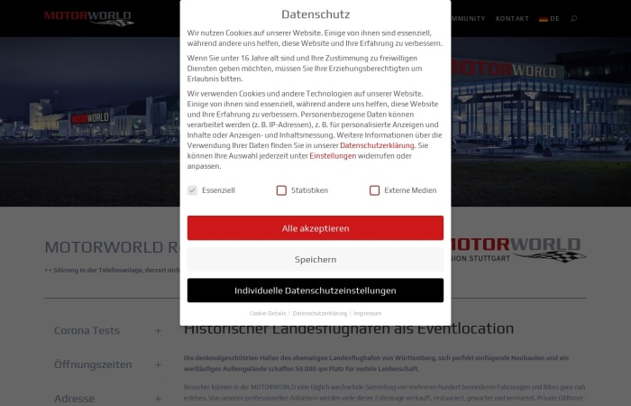 Screenshot von motorworld.de