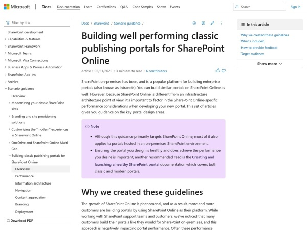 https://msdn.microsoft.com/en-us/pnp_articles/portal-overview?utm_content=53197830