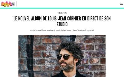 Screenshot of musique.urbania.ca