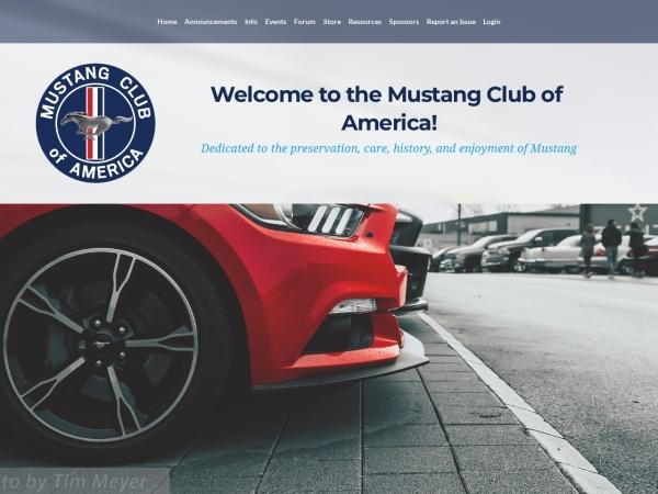 Screenshot of mustang.org