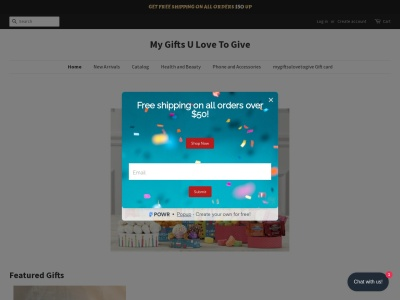 Screenshot of mygiftsulovetogive.com