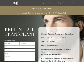 Screenshot von myperfecthairtransplant.com