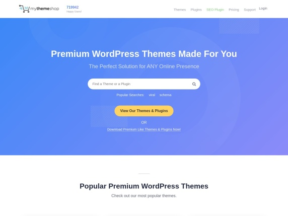MyThemeShop home page
