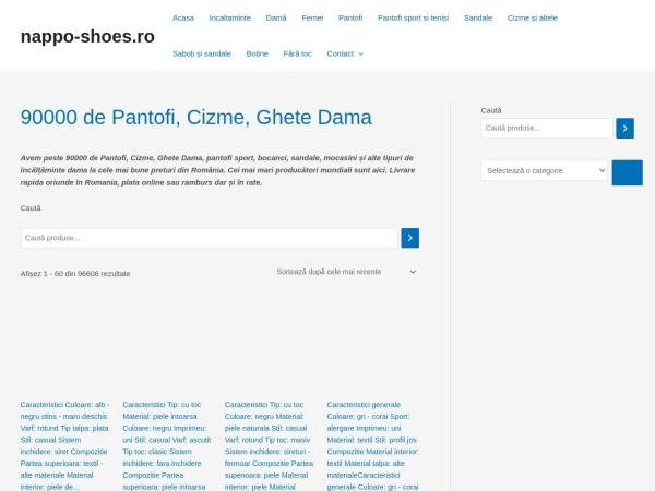 Screenshot of nappo-shoes.ro
