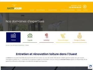 Entreprise toiture, façade, panneaux solaire, isolation et PAC à Nantes et Rennes