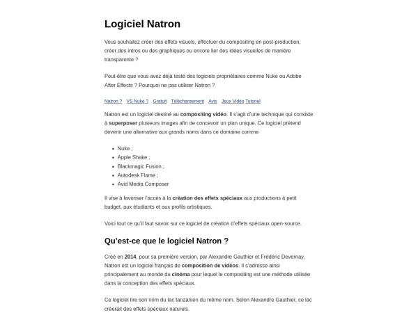 Screenshot of natron.inria.fr