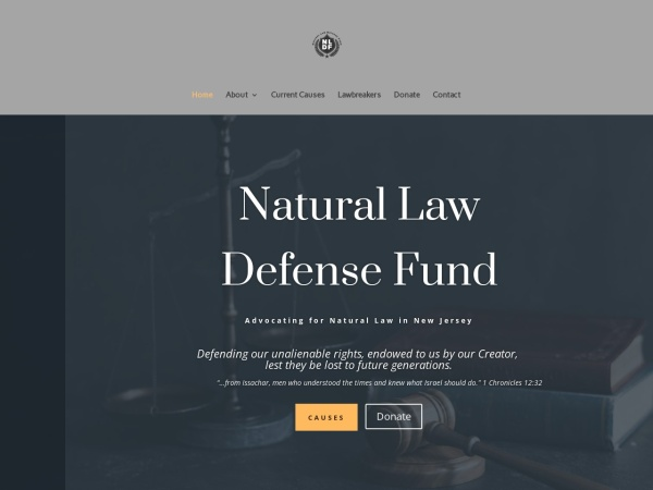 Screenshot of naturallawdefense.org