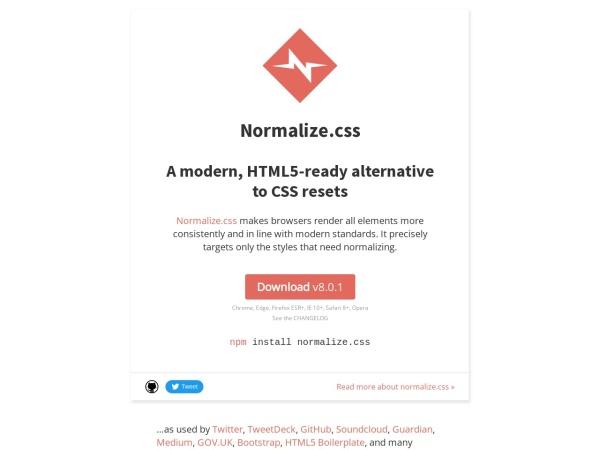 https://necolas.github.io/normalize.css/