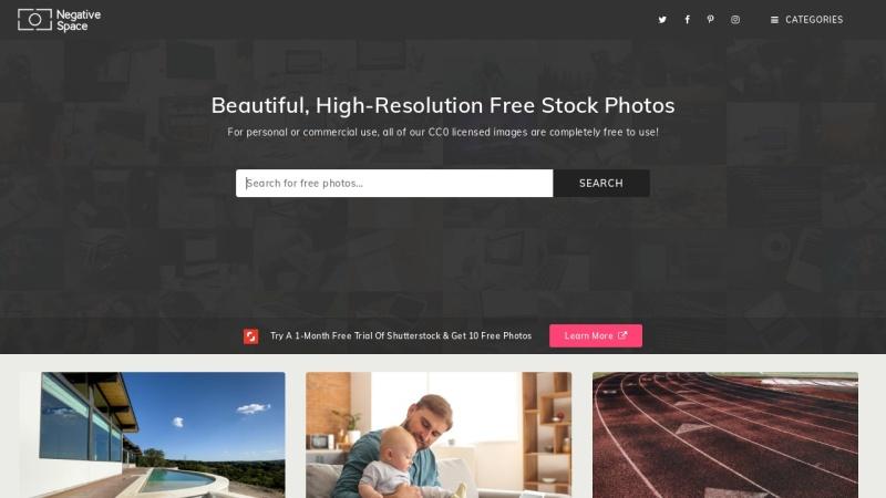 Screenshot von negativespace.co
