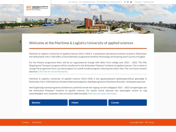 Screenshot of netherlandsmaritimeuniversity.eu