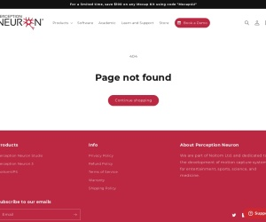 Screenshot of neuronmocap.com