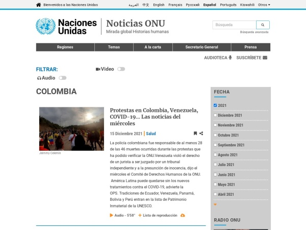 Captura de pantalla de news.un.org