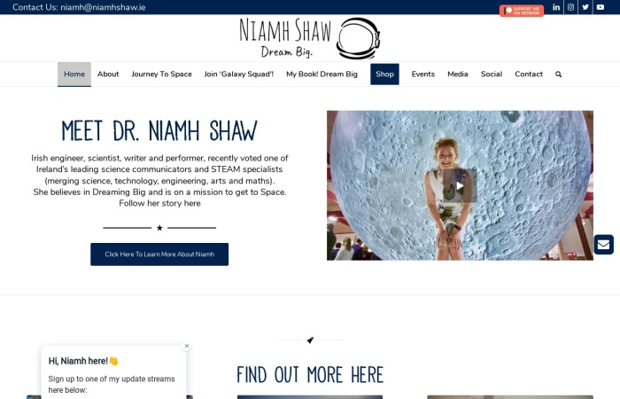 Screenshot of niamhshaw.ie