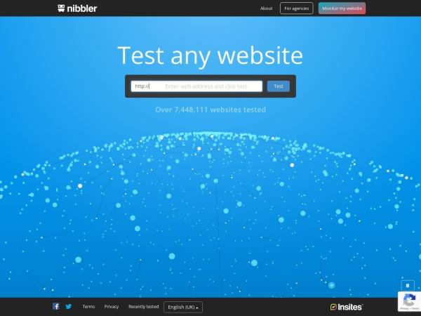 Screenshot of nibbler.silktide.com