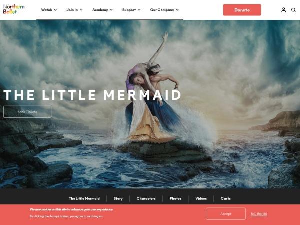 Screenshot of northernballet.com