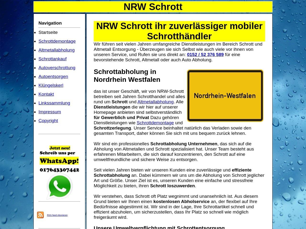 Schrottdemontage und Schrottzerlegung Nordrhein-Westfalen Thumb