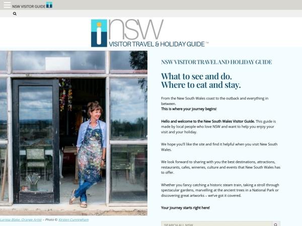 Screenshot of nswvisitorguide.com.au