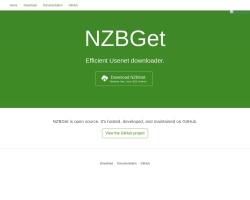 Screenshot of nzbget.net