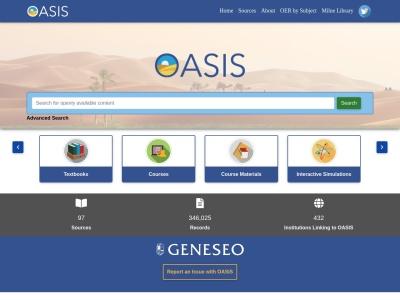 Screenshot of oasis.geneseo.edu