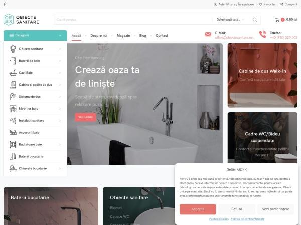 Screenshot of obiectesanitare.net