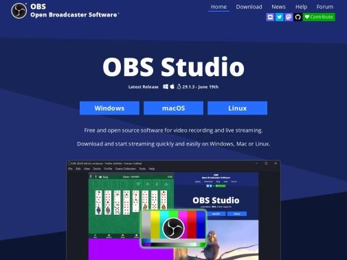 Screenshot of obsproject.com