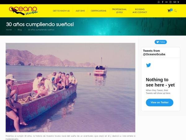 Captura de pantalla de oceanoscuba.com.co