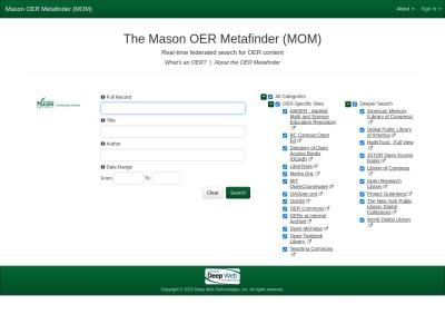 Screenshot of oer.deepwebaccess.com