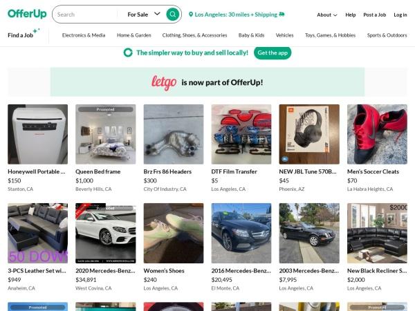 Screenshot of offerup.com