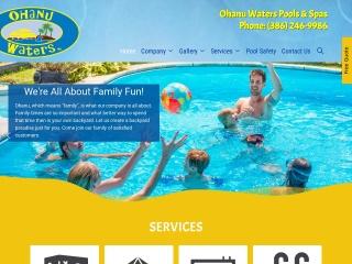 Ohanu Waters Pools and Spas Website
