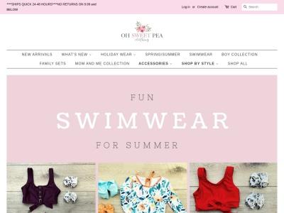 Screenshot of ohsweetpeaclothing.com