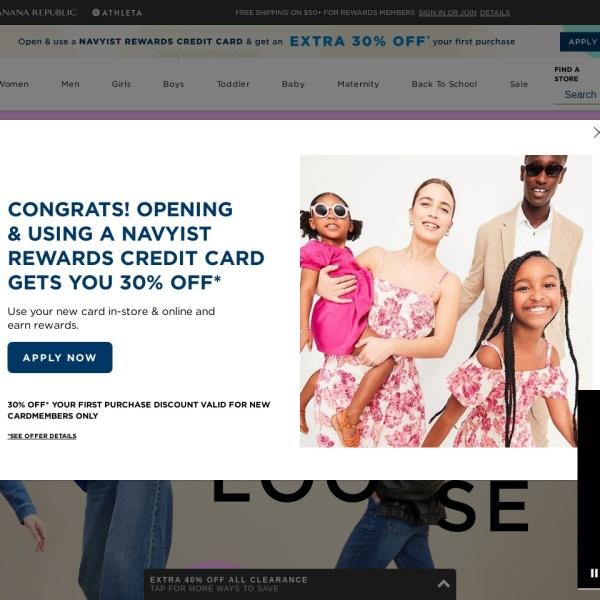 Screenshot of oldnavy.gap.com