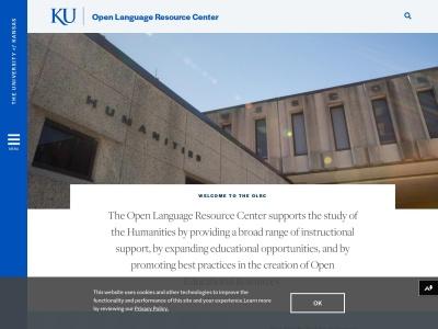 Screenshot of olrc.ku.edu