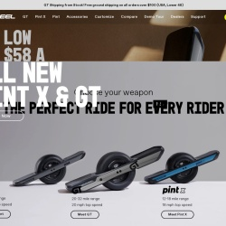 Screenshot of onewheel.com