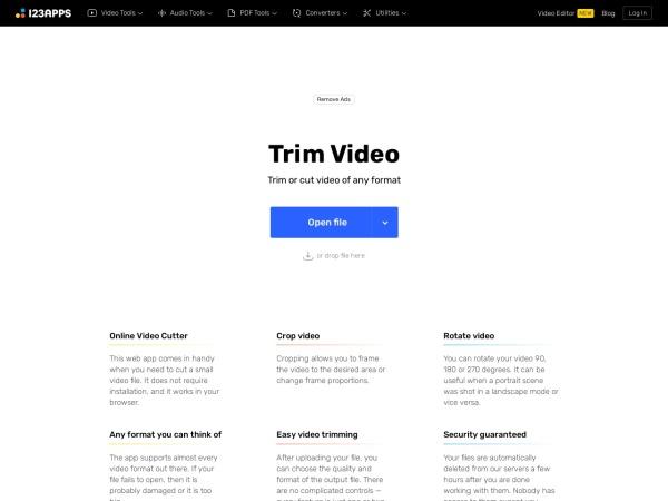 Screenshot of online-video-cutter.com