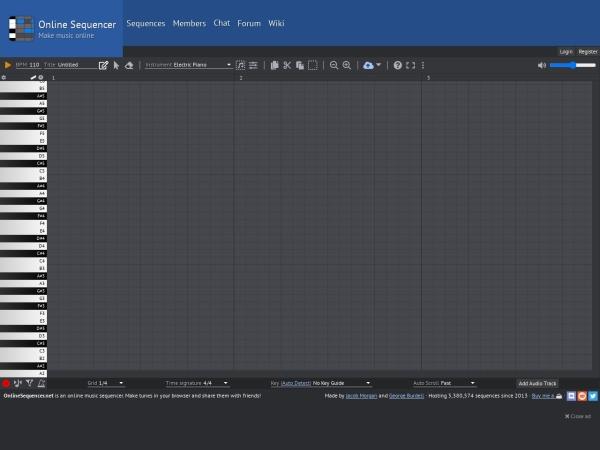 Screenshot of onlinesequencer.net