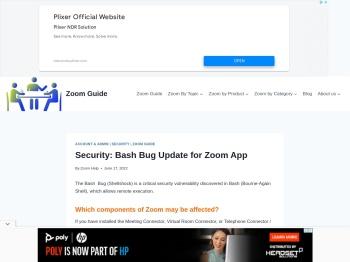 Security: Bash Bug Update for Zoom App