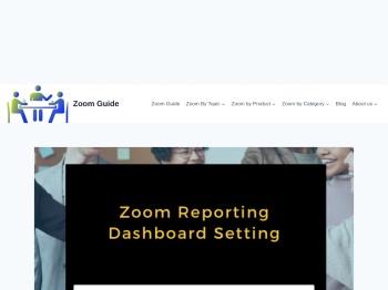 Zoom Reporting Dashboard Setting