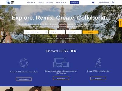 Screenshot of opened.cuny.edu