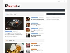Screenshot of oppivekt.no