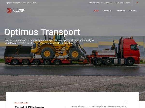 Screenshot of optimustransport.ro