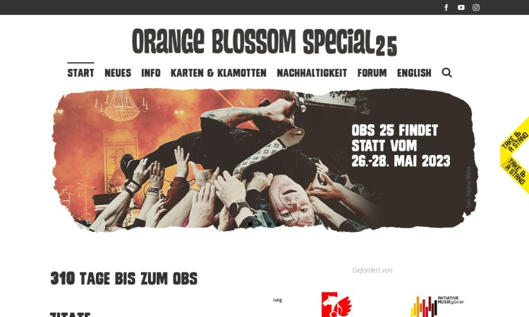 Screenshot von orangeblossomspecial.de