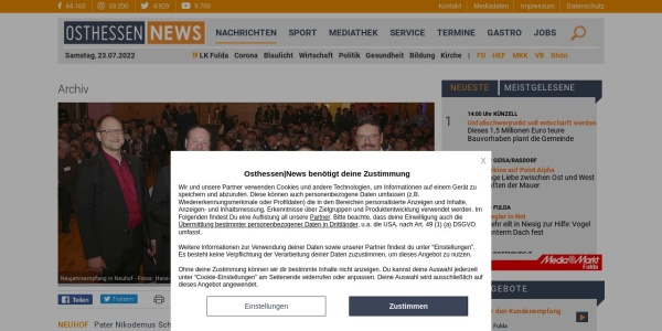 Screenshot of osthessen-news.de