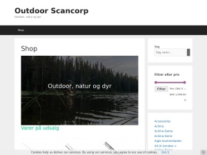 Screenshot of outdoor.scancorp.dk