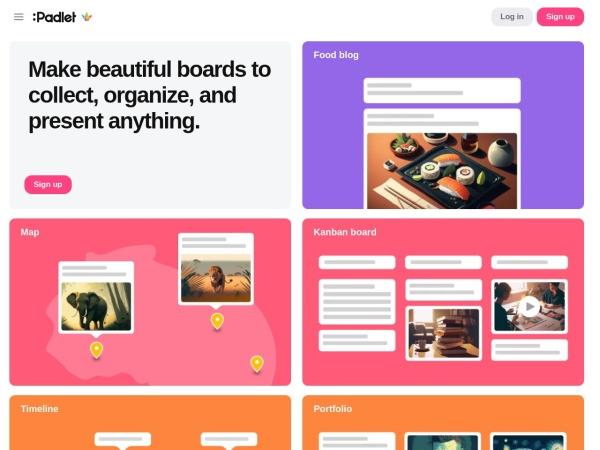 Screenshot von padlet.com
